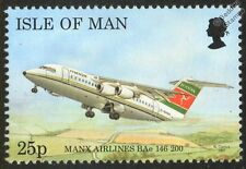 Manx Airlines Bae 146-200 Airliner Aircraft Mint Stamp (1997 Isle of Man)