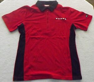 T G I Fridays red button down work shirt new