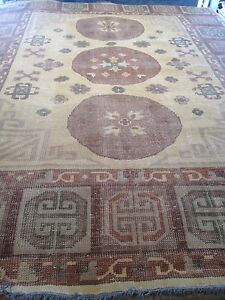 8' X 10' Oriental Area Rug Oushak / Khotan Faded Look Hand Woven Knotted