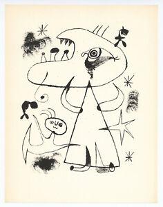 Joan Miro surrealistic composition printed in 1947 - 890305