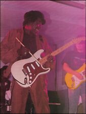 Buddy Guy onstage with his Fender Stratocaster guitar 8 x 11 pin-up photo