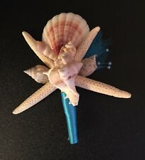 XO Bouquet  Seashell Boutonnière Star Fish Five In Package
