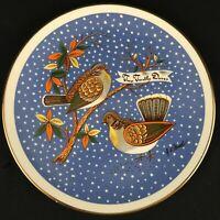 VTG Christmas Plate Distinguish Gift Creation 12 Twelve Days 2 Turtle Doves USA