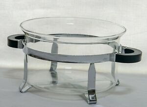 Bodum Chambord Hot Pot Glass with Stainless Steel Metal Base Denmark in Box