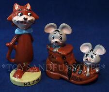 Vintage MR. JINX + PIXIE & DIXIE Ceramic Figurines HANNA BARBERA Idea JINKS