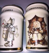 Oregano & Chili Spice Jars Mint M.J. Hummel Switzerland 1987 More Available!