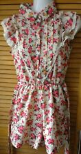 Women's shortie floral (cabbage roses) print high neck playsuit  size 10