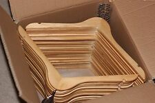 Natural wooden hangers 50 pcs per case