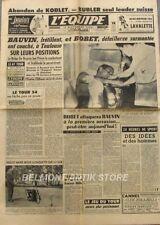 Journal l'Equipe n°2578 - 1954 - Tour de France  - Bauvin - Bobet - De Bryune -