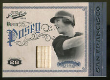 Buster Poseo 2011 Playoff Prime Cuts Century Bat 174/199 Giants 9655 Mint
