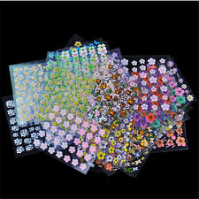 Plastic nail art crystals ebay 30 sheet mix 3d nail stickers flowers stick on nail art decals tips manicure lot prinsesfo Gallery