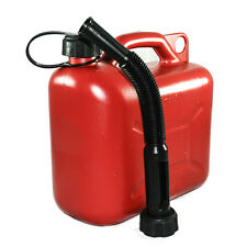 Tanica 5lt colore rosso facile trasporto acqua carburante benzina resistente TP5