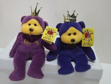 Skansen Retired Beanie Kids, KING AND QUEEN, Bears in MINT Cond, Tags