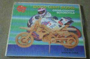 Cx501 Wooden Motorcycle Model - Building Toys