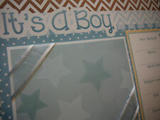 WOW! Baby Boy 20 Page 12x12 Premade Scrapbook Pages in Set for new Mom and Album