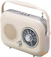 THATSHOW CREAM RETRO VINTAGE FM MW LW ANALOGUE TUNER RADIO