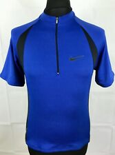 Nike Dri-Fit Cycling Jersey Men's Size M Blue Short Sleeve Shirt Made in Italy