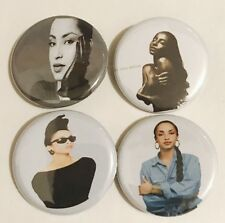 "Set of 4 1.25"" Sade Buttons - Smooth Operator Love Deluxe Lovers Rock Soul Music"