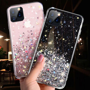 iPhone 11 12 Pro Max SE XR 8 7 6 XS Sparkly Glitter Silicone Gel Case Soft Cover