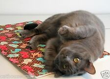 Refillable Catnip Pad-Mat w/ Organic Cat Nip Made in the USA by CatHouze Crafts