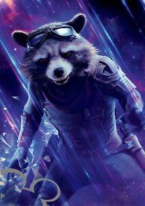Marvel Avengers Endgame Rocket A4 art print, photo, picture