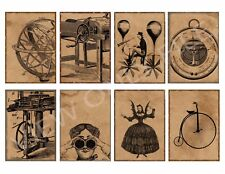 8 Steampunk Atc Cards Hang Tags Scrapbooking Paper Crafts (335)