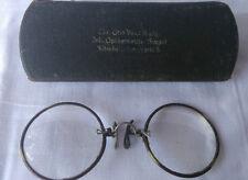 ***Antike Brille mit Etui Altenburg Alte Nasenbrille***