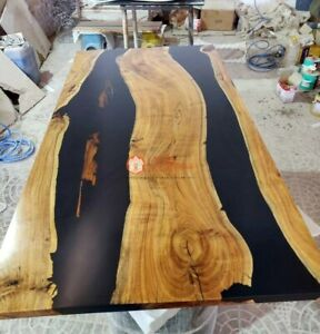 River Table, Epoxy Resin Table Top Acacia Wooden Epoxy Resin Rustic Table Decors