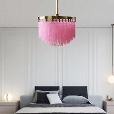 Ceiling Fixture Pink Tassel Pendant Light LED Lighting Chandelier Hanging Lamps