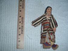 "Vtg 70s Hallmark 7"" Soft Fabric Chief Joseph Doll Famous Americans History Pb13"