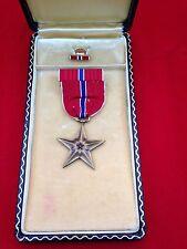 Original U.S. Military WWII Era Bronze Star Medal Complete Cased Set