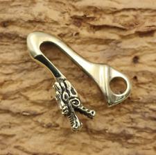 Brass Keychain Faucet Hook Buckle Brass Cloth Buckle Vintage Pendant DIY Jewelry