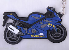 SUZUKI GSXR 1000 K7 Bleu 8 Porte-clés Anneau Chaîne Keyfob moto gaz d'échappement du moteur 3D