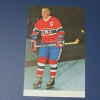 MAURICE RICHARD  Montreal Canadiens color postcard  SIGNED AUTO Autographed HOF