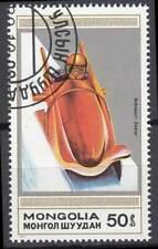 Mongolei Briefmarke gestempelt Sport Wintersport Bob Bobsport Zweier / 802