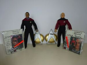 STAR TREK PLAYMATES PICARD AND SISKO 9 INCH LOOSE FIGURES WITH ACCESSORIES