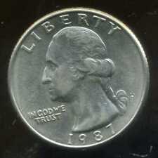USA  quarter 25 cents 1987 D