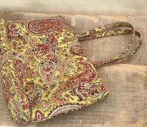 Vera Bradley Tote Purse Shoulder Handbag Floral Paisley - yellow, pink, etc.