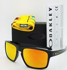 NEW Oakley Sliver Valentino sunglasses Black Fire Iridium 9262-27 AUTHENTIC 9262