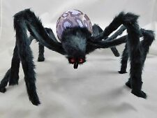 Halloween Hairy Spider Brown LED Light Up Strobe & Flash Effect Figurine New