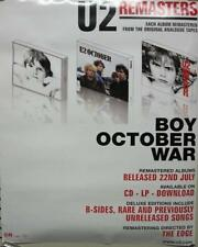 U2 2008 BOY/OCTOBER/WAR REMASTERS promo poster New Old Stock Mint Condition
