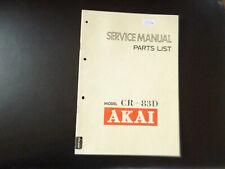 Original Service Manual Schaltplan Akai CS-83D