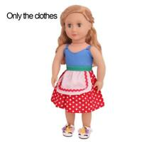 For 18 Inch Doll Cute Wave Point Doll Clothes Yarn Fashion Yarn Mini Dress