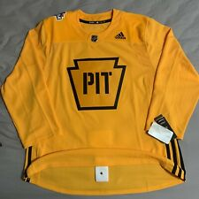 2019 Stadium Series Pittsburgh Penguins Adidas Authentic Practice Jersey Size 54