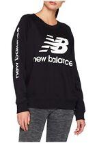 New Balance Essentials Black Crew Neck Sweatshirt. Brand New Size Small Womans
