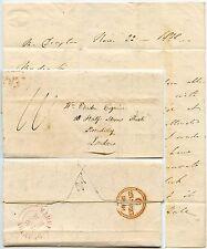 GB 1838 Market Drayton Rosa CITTA 'ANNULLO + lettera a Vardon London Shropshire