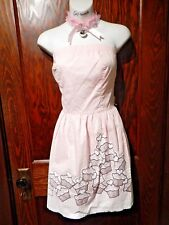 SWEET LOVE lolita pastel pink CUPCAKE DRESS candy dessert kawaii pop pinup L 2F