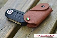 Dark Brown Leather key case for FIAT 500L  PANDA BRAVA PUNTO STILO