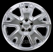"4 New 2013-2017 Escape 17"" Bolt On Chrome Hub Caps Full Rim Skins Wheel Covers"