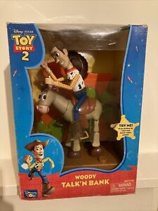 Original Unopened Collectable Toy Story 2 Woody Talk'n Bank